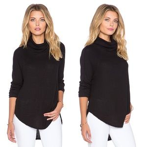 Free People Drippy Cowl Neck Thermal Top Kristina